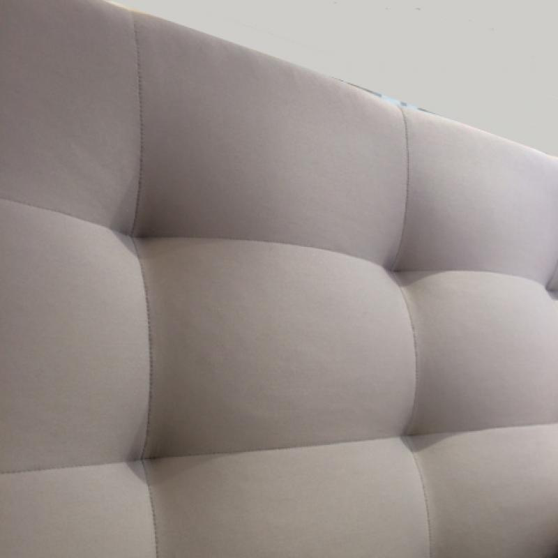 Headboard Optical Squares Dark Grey - Satin Cotton