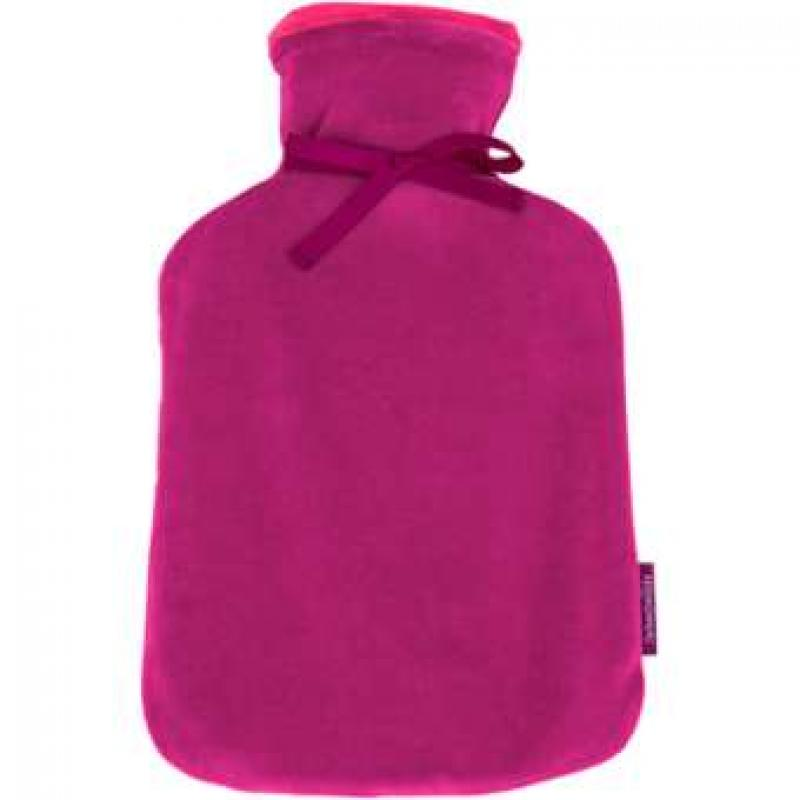 Hot Water Bottle 2.0L Large with Soft Velour Cover