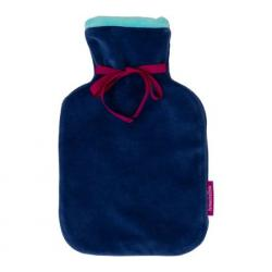 Hot Water Bottle 0.8L Small with Soft Velour Cover
