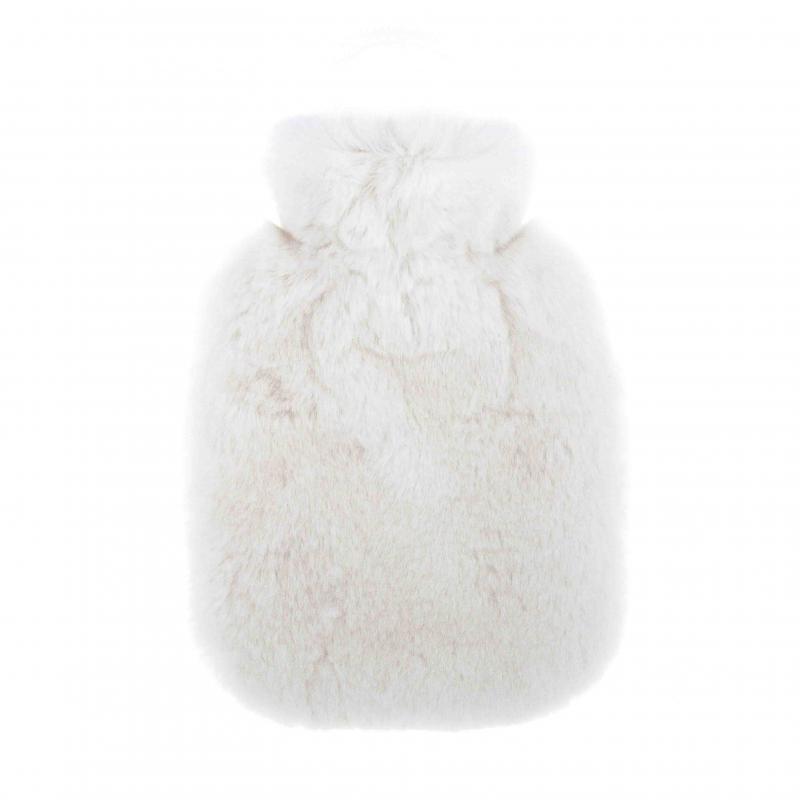 Luxury Hot Water Bottle  with Rabbit Fur