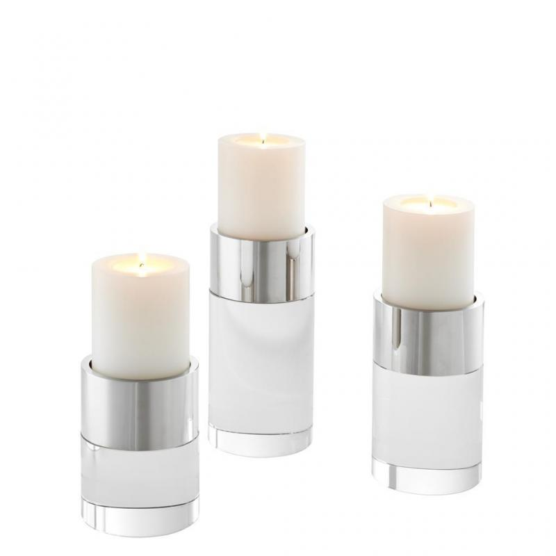 SILVER CANDLE HOLDER SET | EICHHOLTZ SIERRA