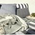 Wool Throw 100% Organic- Solene plaid